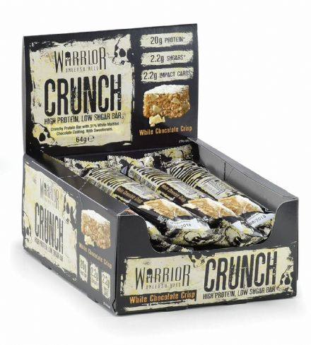 Warrior Crunch High Protein Bars; Low Carb Low Sugar; Box Of 12; All Flavours